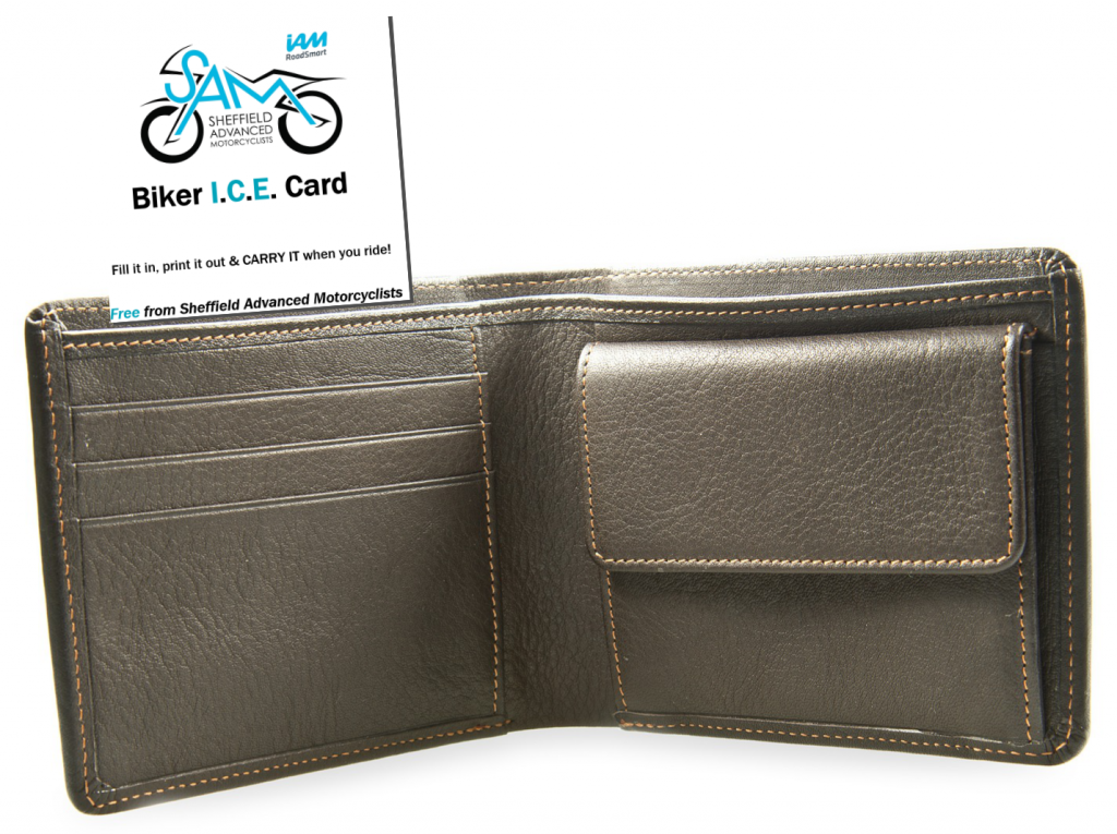 Biker I.C.E. Card in Wallet