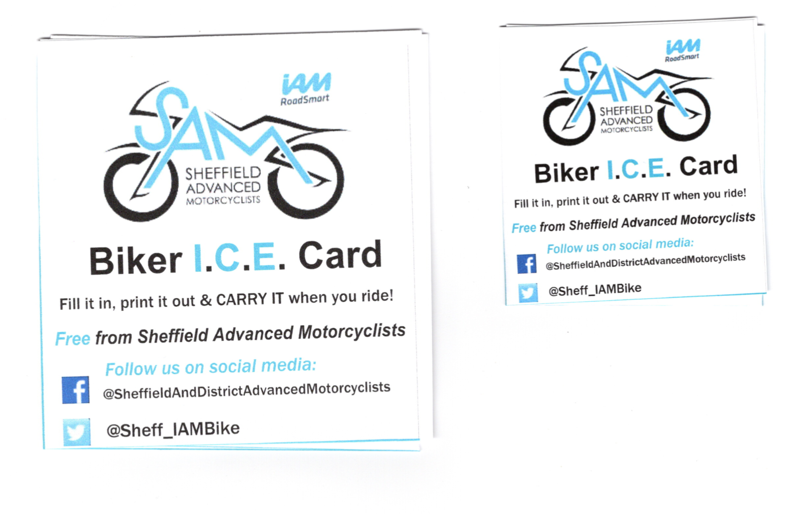 Biker ICE Print Size