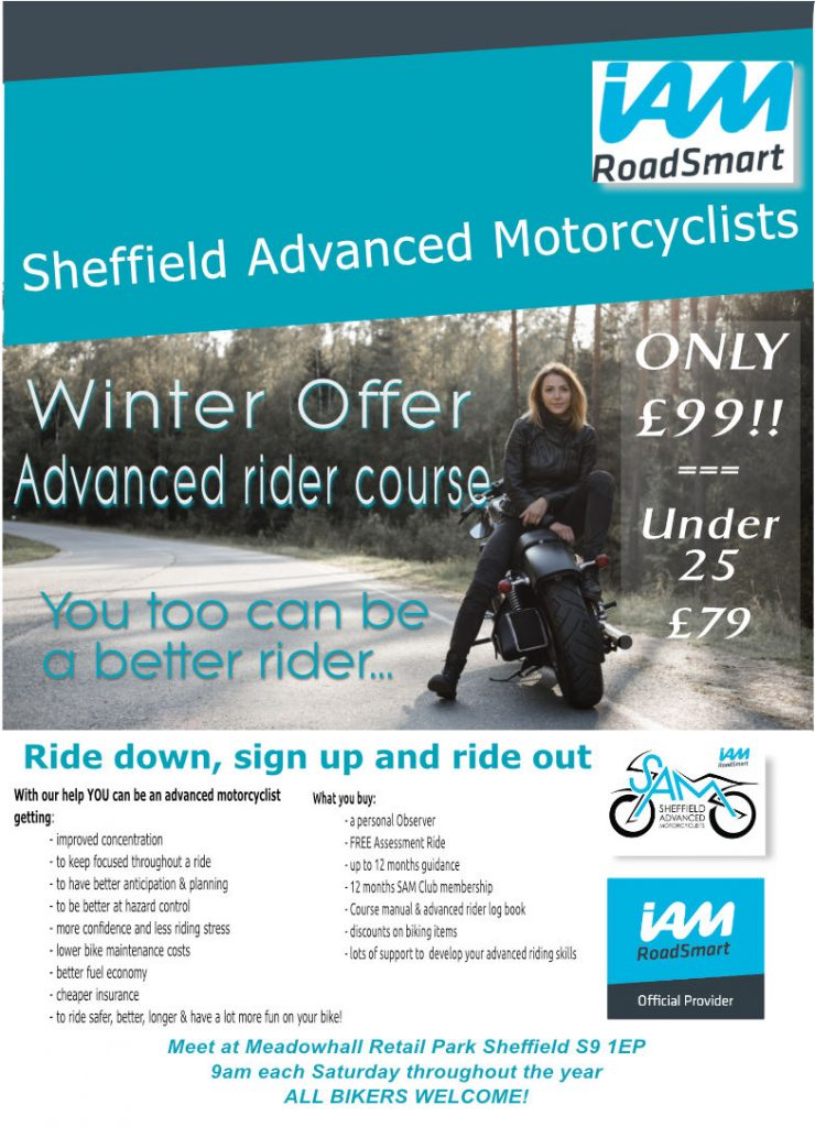 Sheffield Advanced Motorcyclists: Advance Motorcycle Course Offer