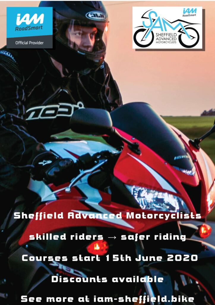 Sheffield Advanced Motorcyclists Courses start again 15th June 2020